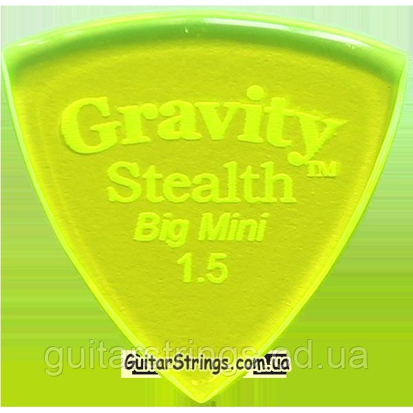 Медиатор Gravity Picks GSSB15P Stealth Big Mini Polished 1.50 mm