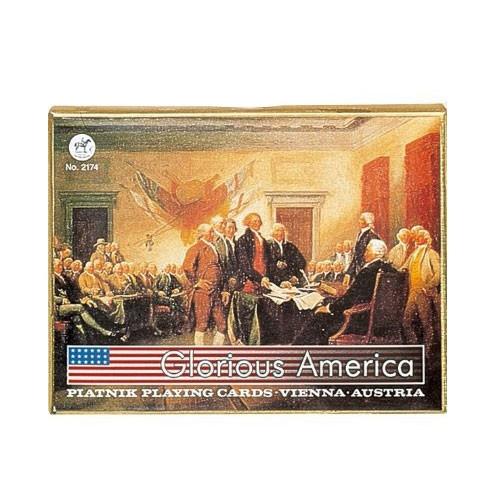 Комплект - игральные карты Piatnik Glorius America 2 колоды по 55 листов