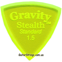 Медиатор Gravity Picks GSSS15M Stealth Standard Unpolished 1.50 mm