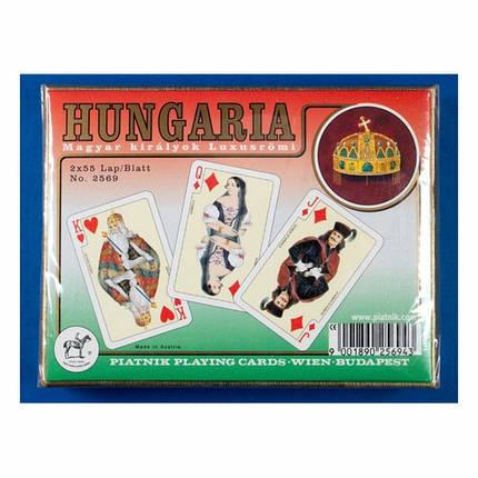Комплект - игральные карты Piatnik Hungaria 2 колоды по 55 листов , фото 2