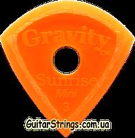 Медиатор Gravity Picks GSUM3MR Sunrise Mini Jazz Unpolished with Round Grip Hole 3.00 mm