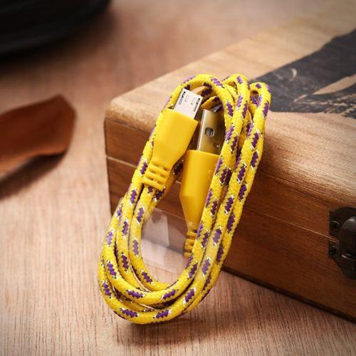 Тканинний кабель Iphone 5 5s 5c 6 6s 6 Plus №177