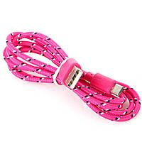 Тканевый кабель шнур Micro USB - USB, №176