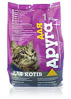 """Корм для котов """"Для друга"""" (рыба) 1 кг"""
