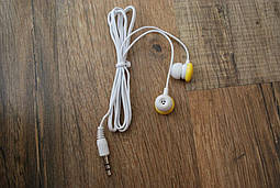 Вакуумні навушники жовті, №146