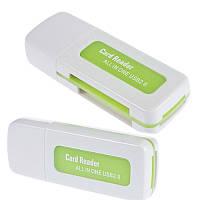 Кардридер Cardreader 4 в 1 USB в виде флешки, №181, фото 1