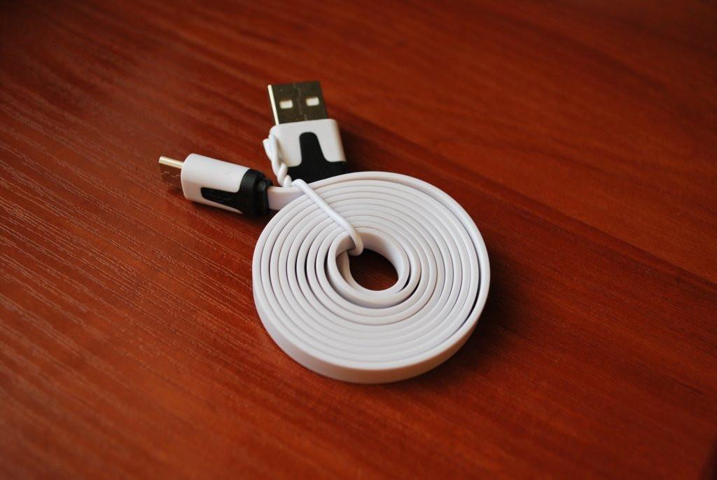 Универсальный плоский кабель Micro USB - USB, №141