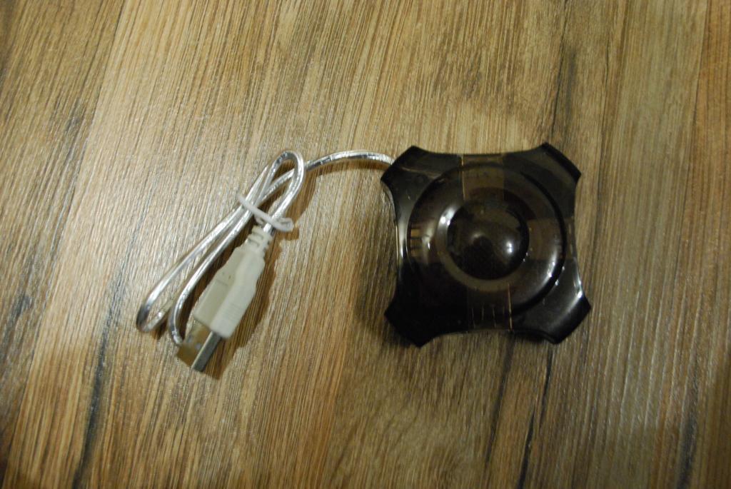 USB Hub хаб 4 порта черный, №161