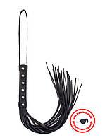 Плеть с маской Angel Touch с черной ручкой и петлей