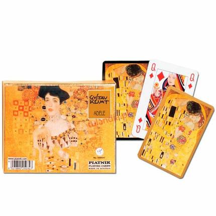 Комплект - игральные карты Piatnik Klimt Adele/Emilie 2 колоды по 55 листов, фото 2