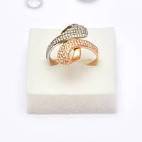Золотое кольцо с цирконием 87009