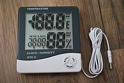 Часы термометр гигрометр + выносной датчик HTC-2, A214