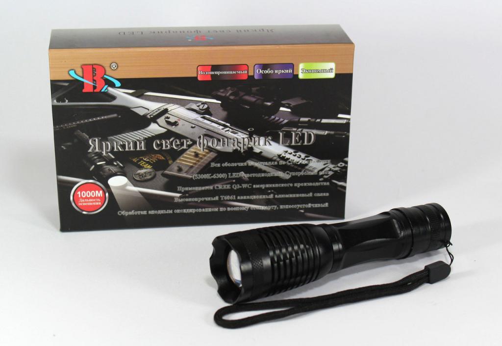 Очень яркий фонарик фонарь BL-1837 CREE T6, A266