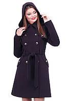 """Женское кашемировое пальто """"Сюзанна""""  с капюшоном"""
