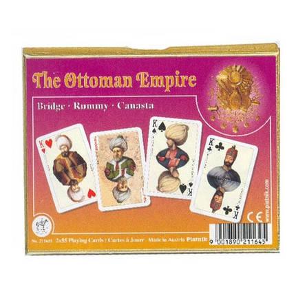 Комплект - игральные карты Piatnik Ottoman Empire 2 колоды по 55 листов, фото 2