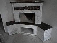 Облицовка камина мрамором