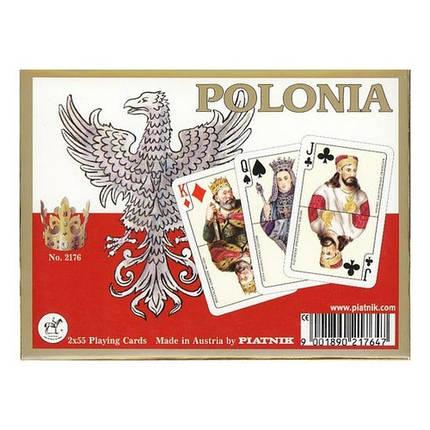 Комплект - игральные карты Piatnik Poland 2 колоды по 55 листов, фото 2