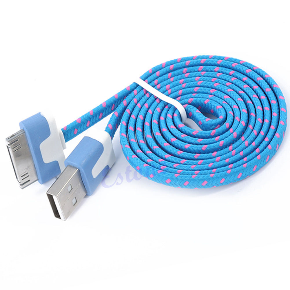 Тканевый кабель USB шнур Iphone 4 4s №178