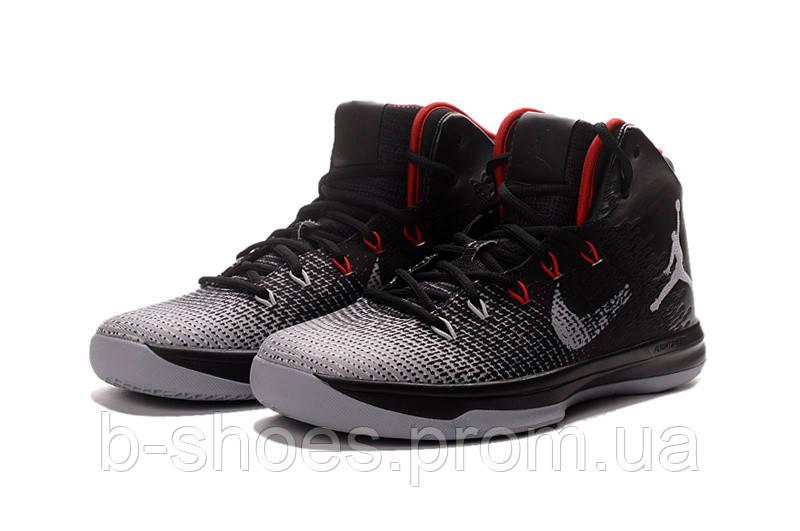 Мужские баскетбольные кроссовки  Air Jordan  31 (Black/Red-Wolf Grey)