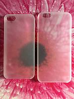 Чехол для iPhone 5/5s и 6/6s матовый белый пластиковый