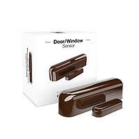 Датчик открытия двери/окна шоколадный FIBARO Door/Window Sensor Dark chocolate — FIBEFGK-107