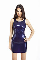 Сексуальное мини-платье из латекса с рельефом Sexy Latex Mini Dress