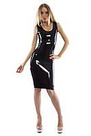 Платье до колен из латекса Latex Long Dress