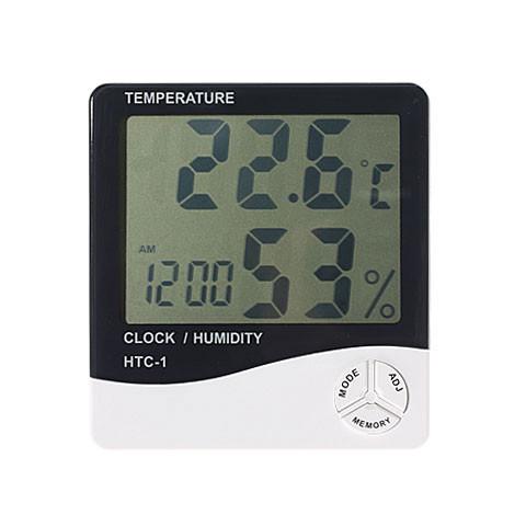 Часы термометр гигрометр будильник LCD HTC-1, A152