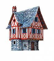 Игровой набор из картона Дом купца 379 Умная Бумага