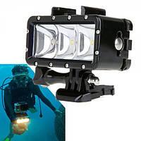 Лампа LED водонепроницаемая для GOPRO SJCAM XIAOMI SONY