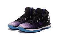 Мужские баскетбольные кроссовки  Air Jordan  31 (Black/Purple/White/Blue) , фото 1