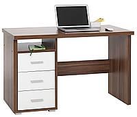 Стол письменный, компьютерный + 3 ящика выдвижный 120х55х75см, фото 1