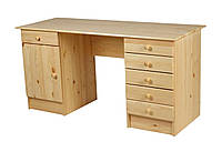 Столик письменный деревяный сосна (6 ящиков и дверца)145х59х74см, фото 1