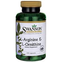 L-Аргинин с L-Орнитином, 500/250 мг 100 капсул