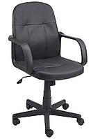 Кресло компьютерное, офисное черное с ручками