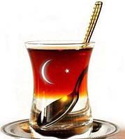Турецкий стакан для чая 135 ml. - Армуды - Тюльпаны (стакан + блюдечко) - PAŞABAHÇE, фото 1
