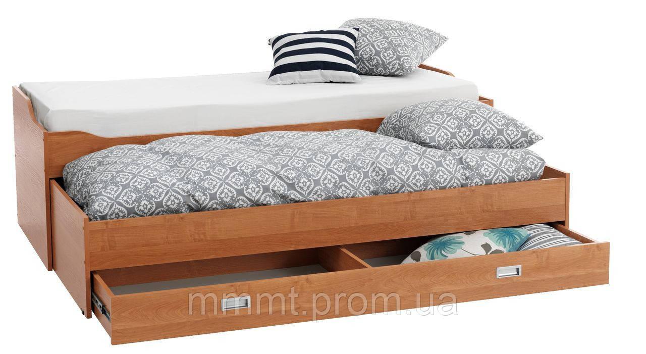 Кровать кушетка ольха с нишами 80/160x200см - Твой магазин в Киеве