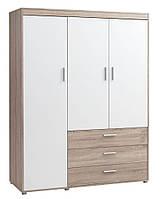Шкаф 3-х дверный + 3 ящика (цвет дуб белый), фото 1