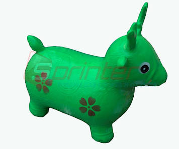 Надувная игрушка-попрыгунчик олень (зеленый)