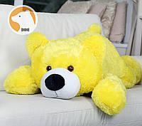 Плюшевый мишка Умка лежащий большой, желтый, 110 см