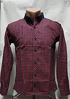 Рубашка кашемировая для мальчиков 146,152,158 роста Красная
