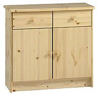 Комод из дерева с 2-мя выдвижными ящиками + 2 двери, сосна, фото 1