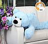 Плюшевый мишка Умка лежащий большой, голубой, 110 см, фото 2