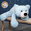 Плюшевый мишка Умка лежащий большой, голубой, 110 см, фото 3