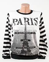 Батник женский принт Paris полоска p.42-44 N1904