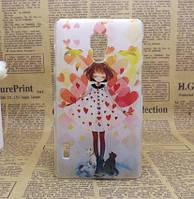 Эксклюзивный чехол для LG L7 II P713 с картинкой Девочка