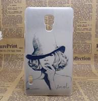 Эксклюзивный чехол для LG L7 II P713 с картинкой Монро в шляпе