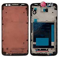 Рамка крепления дисплея для LG Optimus G2 D800, D801, D802, D803, D805, черная, оригинал