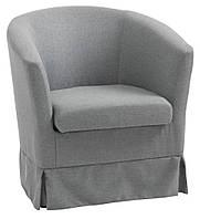 Кресло тканевое светло серое