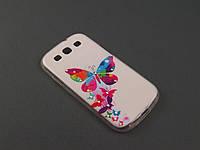 Чехол Diamond TPU для Samsung Galaxy S3 I9300i бабочки